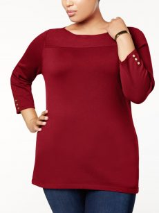 Karen Scott Plus Size 3X Sweatshirt Sweater
