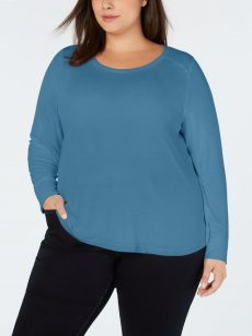 INC Plus Size 1X Blue Pullover Top