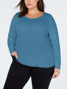 INC Plus Size 1X Blue Pullover Top