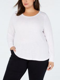 INC Plus Size 1X White Pullover Top
