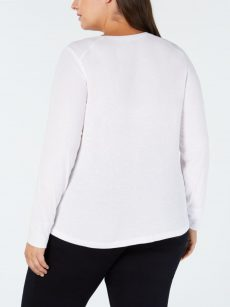 INC Plus Size 1X White Pullover Top
