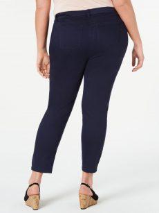 Style & Co. Plus Size 14W Navy Skinny-Leg Pants
