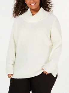 Calvin Klein Plus Size 3X Ivory Pullover Sweater