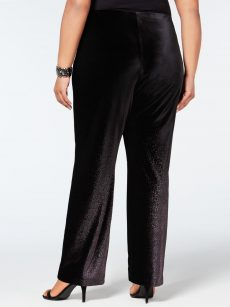 Alfani Plus Size 2X Black Wide Leg Pants