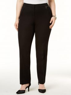 Alfani Plus Size 24W Black Slim-Leg Pants