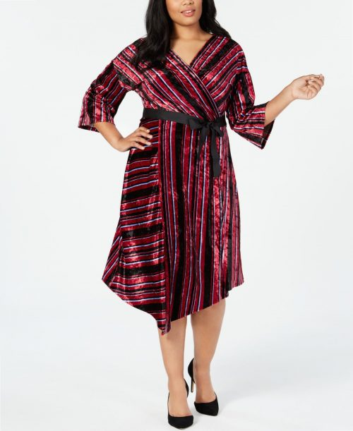 NY Collection Plus Size 1XP Multi Wrap Dress