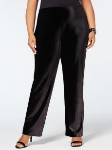 Alfani Plus Size 1X Black Wide Leg Pants