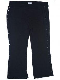 JM Collection Plus Size 20W Black Straight-Leg Pants