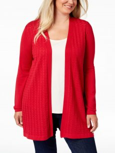 Karen Scott Plus Size 3X Cardigan Sweater
