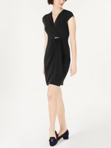 Charter Club Petites Size PP Black Sheath Dress