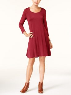 Style & Co. Petites Size PP Red Blouson Dress