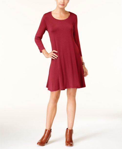 Style & Co. Petites Size PP Red Blouson Dress