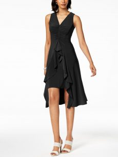 Taylor Women Size 10 Black Flare Dress