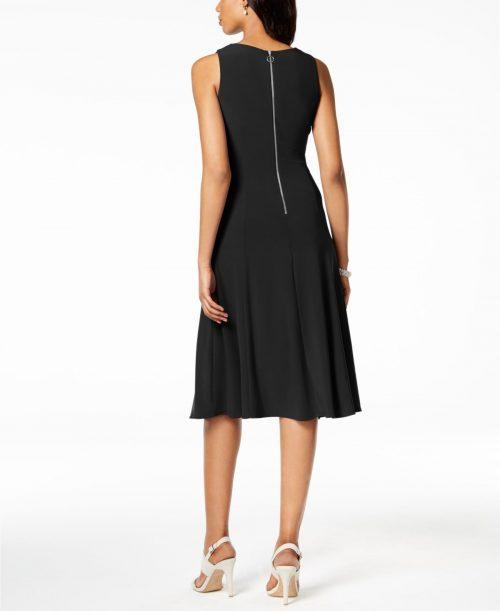 Taylor Women Size 10 Black Flare Dress