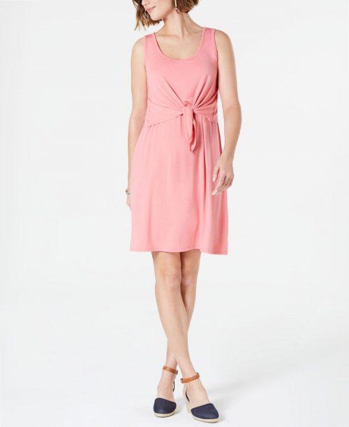 Style & Co. Women Size Medium M Pink Shift Dress