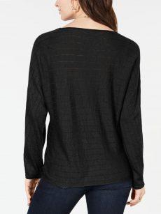 Style & Co. Women Size XS Black Sweatshirt Sweater