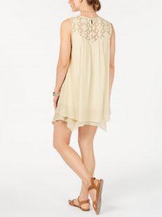 Style & Co. Petites Size PP Beige A-Line Dress