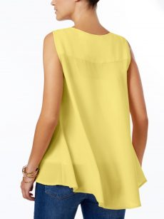 Style & Co. Women Size Small S Yellow Tank Top
