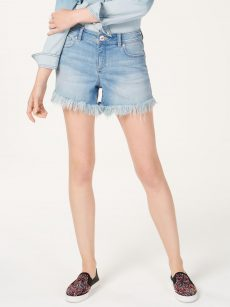 INC Women Size 4 Blue Denim Shorts Pants