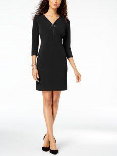 JM Collection Women Size XS Black Sheath Dress
