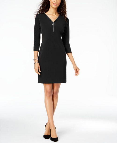 JM Collection Women Size XS Black Sheath Dress