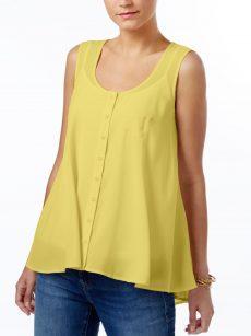 Style & Co. Women Size XS Yellow Tank Top