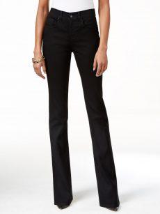 Style & Co. Women Size 2S Black Boot-Leg Jeans