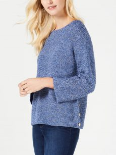 Charter Club Petites Size PS Blue Pullover Sweater