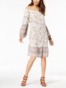 Style & Co. Petites Size PL Off White Blouson Dress