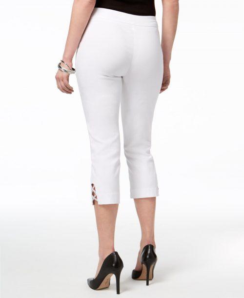 JM Collection Petites Size PXL White Capris Cropped Pants