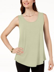 JM Collection Women Size Small S Beige Tank Top