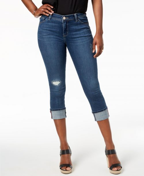 Lee Platinum Label Petites Size 6P Dark Blue Capri Cropped Jeans