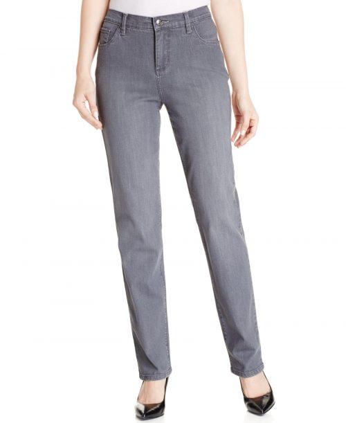 Lee Petites Size 16P Gray Straight Leg Jeans