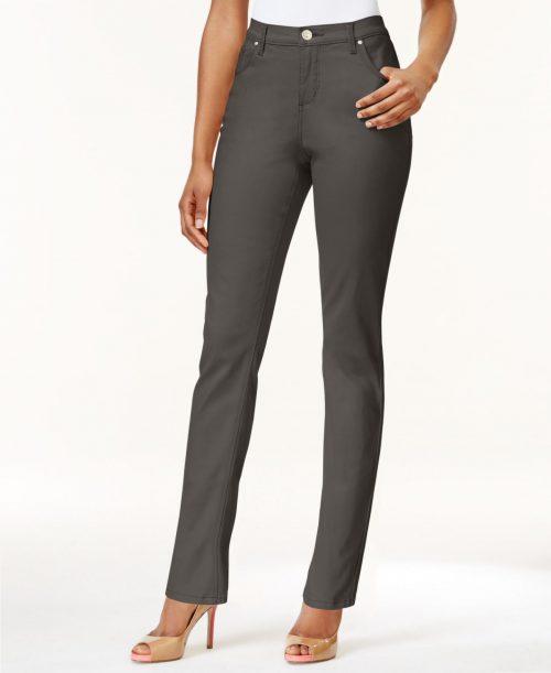 Lee Platinum Label Petites Size 4P Olive Green Straight Jeans