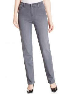 Lee Petites Size 16P Gray Straight Leg Jeans