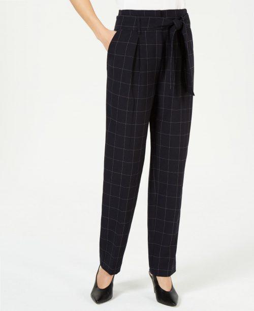 Bar III Women Size 12 Navy Straight-Leg Pants