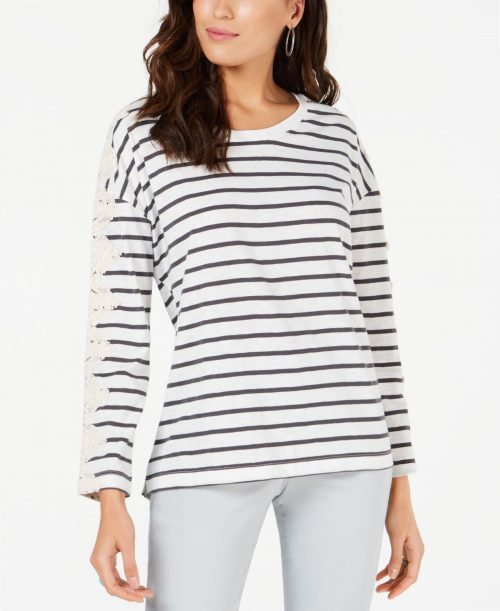 Style & Co. Women Size Large L White Pullover Top