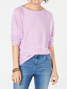 Style & Co. Women Size Large L Purple Sweatshirt Sweater