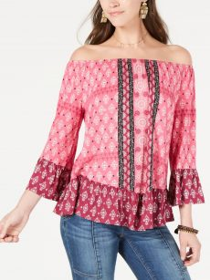 Style & Co. Women Size XS Pink Blouse Top