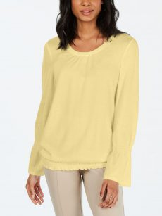 Style & Co. Women Size Small S Yellow Sweatshirt Sweater