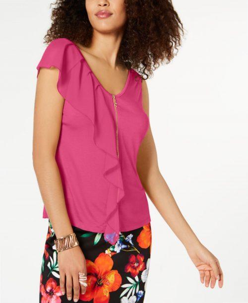 Thalia Sodi Women Size XS Fuchsia Tank Top