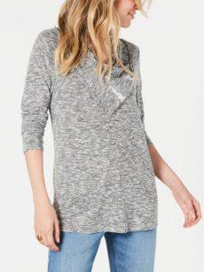 Style & Co. Petites Size PM Grey Sweatshirt Sweater
