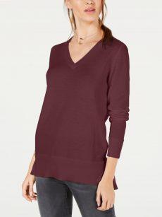Maison Jules Women Size XS Wine Pullover Sweater