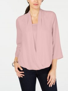Charter Club Petites Size PP Pink Blouse Top