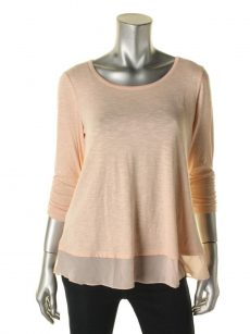 Style & Co. Women Size XS Pink Casual Top