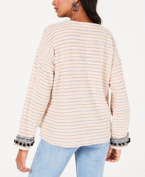 Style & Co. Women Size XL Pink Sweatshirt Sweater