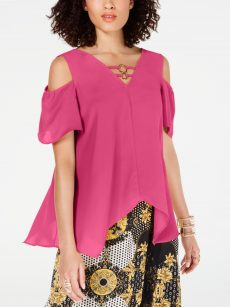 Thalia Sodi Women Size Small S Pink Pullover Top