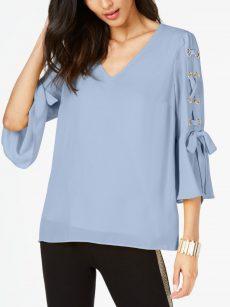 Thalia Sodi Women Size XS Blue Blouse Top