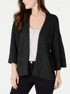 Style & Co. Women Size Medium M Black Cardigan Sweater