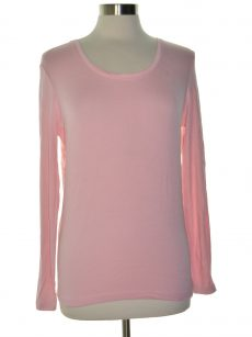 Maison Jules Women Size Large L Pink Knit Top